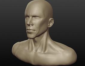 3D model Anthony Kiedis - Bust Sctulpt Practice