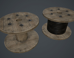 3D model Wire Spool PBR Game Ready