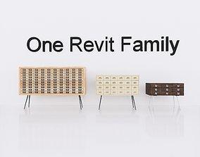 3D model Wardrobe 3 - Revit Family Full