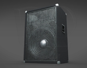 3D model Simple hi-fi speaker