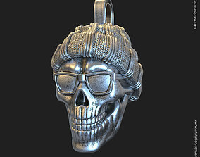 3D print model Skull Gangster vol1 Pendant