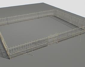 3D asset Railing Fence pack 3