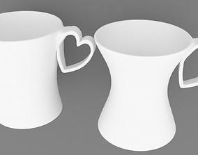 Coffee mug 3D print model ceramic