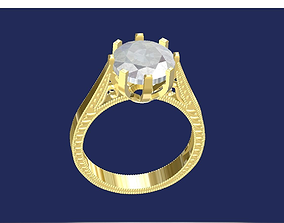 Art deco ring 3D printable model