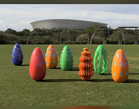 3D Printable Easter Eggs Pack of 7