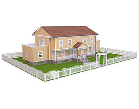 3D asset low-poly House 7