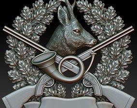 Hunting badge Roe Deer 3D