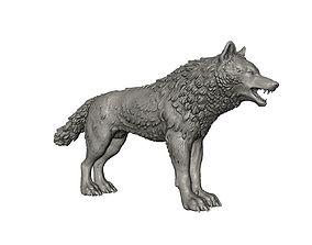 3D print model High poly wolf