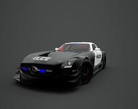 Police Mercedes Benz SLS AMG 3D model