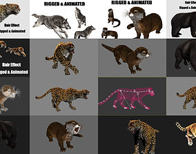 animated animals with hair effect 3D