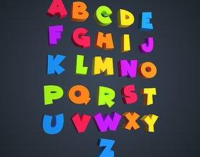 3D Cartoon Alphabet latin