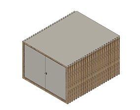 Modern Shed Workshop Building 3D printable model