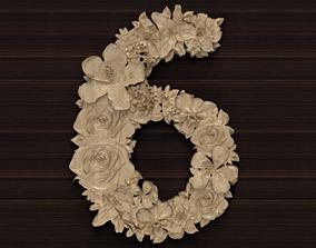 Flower number 6 3D model
