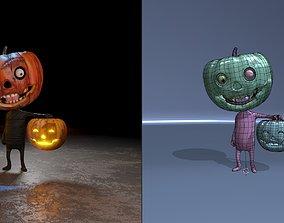 3D model animated pumpkin-Jack