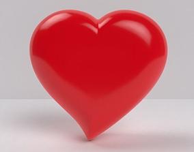 3D asset Heart love shape symbol