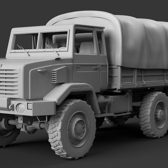 GBC180 Military Truck High Poly