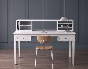 Work Desk Classic White 3D