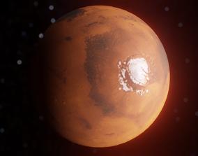 3D model rigged Mars Planet