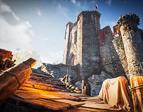 Fantasy Medieval Castle Kit 3D asset