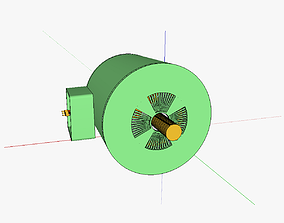 Squirrelcage rotor induction motor 3D print model