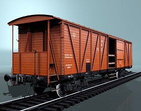 3D asset covered boxcar equipped with a hand brake