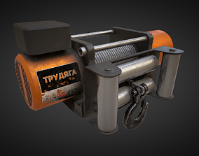 Electric winch 3D