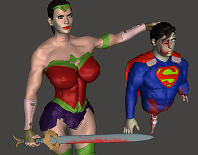 3D print model Wonder Woman VS Superman