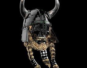 3D printable model viking skull warrior