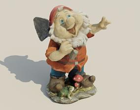 Garden Gnome Statue 3D asset