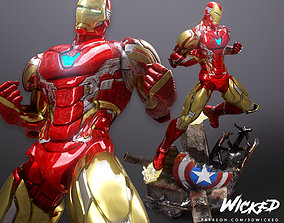 Wicked Marvel Avengers Iron man 3d Bust STL ready for