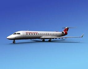 3D model Bombardier CRJ700 Richards Aviation