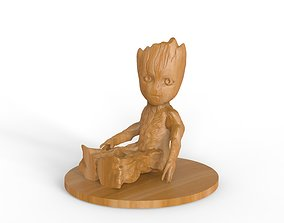 Baby Groot from Guardians of Galaxy 3D print model