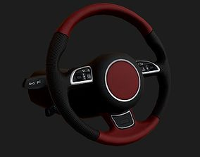 3D asset Steering Wheel Low Poly