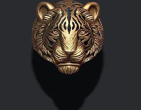 Tiger ring 3D printable model cat