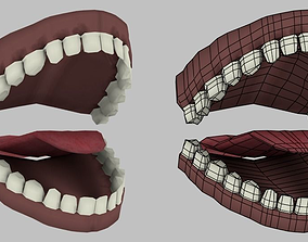 3D asset Human Mouth and half Mouth Model