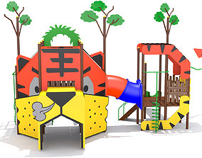 Playground - Tiger Playset 3D model