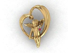 3D printable model heart and an angel