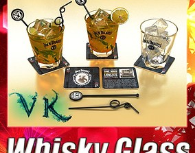3D Jack Daniels Whiskey Glass