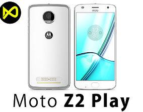 3D Motorola Moto Z2 Play 2017 Silver
