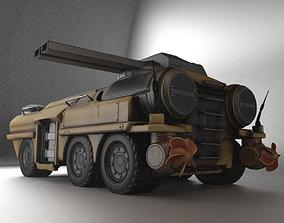 Amphibious Tank Rigged 3D asset