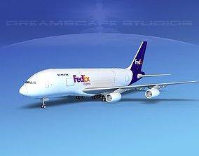 3D Airbus A380-800 FedEx