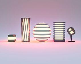 Table lights 3D model
