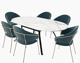 Table Blink and Jazz Armhair 3D model
