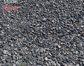 Ultra realistic Gravel Scan 3D model