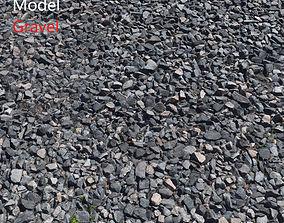 3D model Ultra realistic Gravel Scan rubble