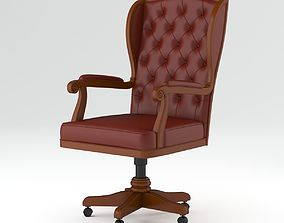 Brown Classic Armchair 3D model