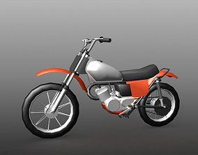 3D model Low-poly Motorbike game asset