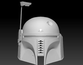 Boba Fett Dented Helmet ready to print movable range