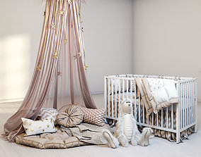 Cozy set for children with canopy 3D