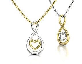 Infinity Heart Necklace 20mm Solid NECKLACE printable